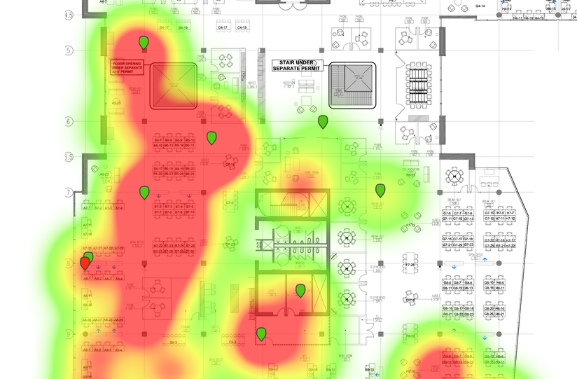 Heatmap based on Wi-Fi Location